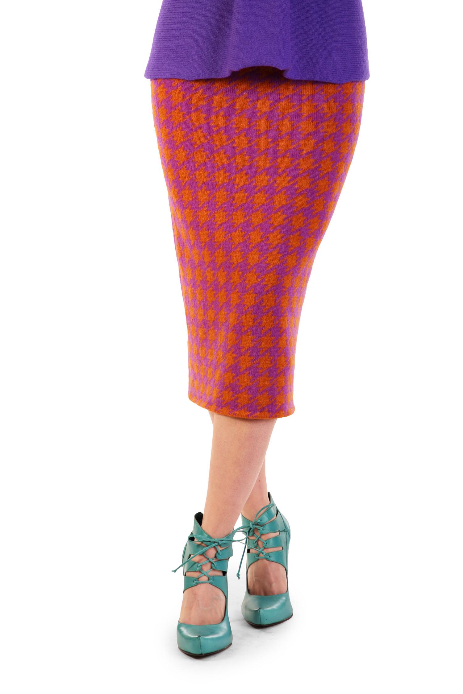 Dogtooth pencil skirt1