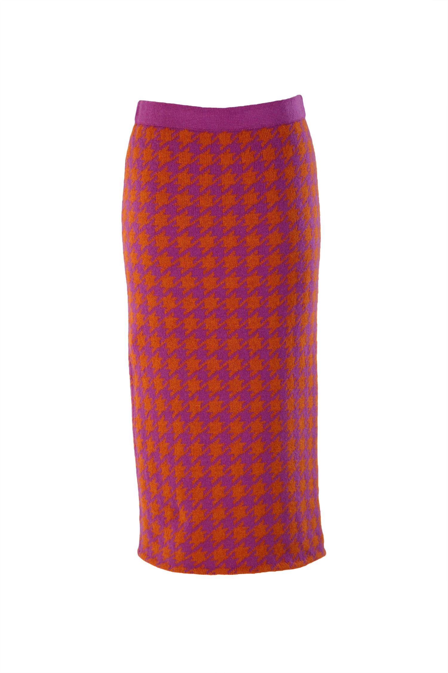 Dogtooth pencil skirt2