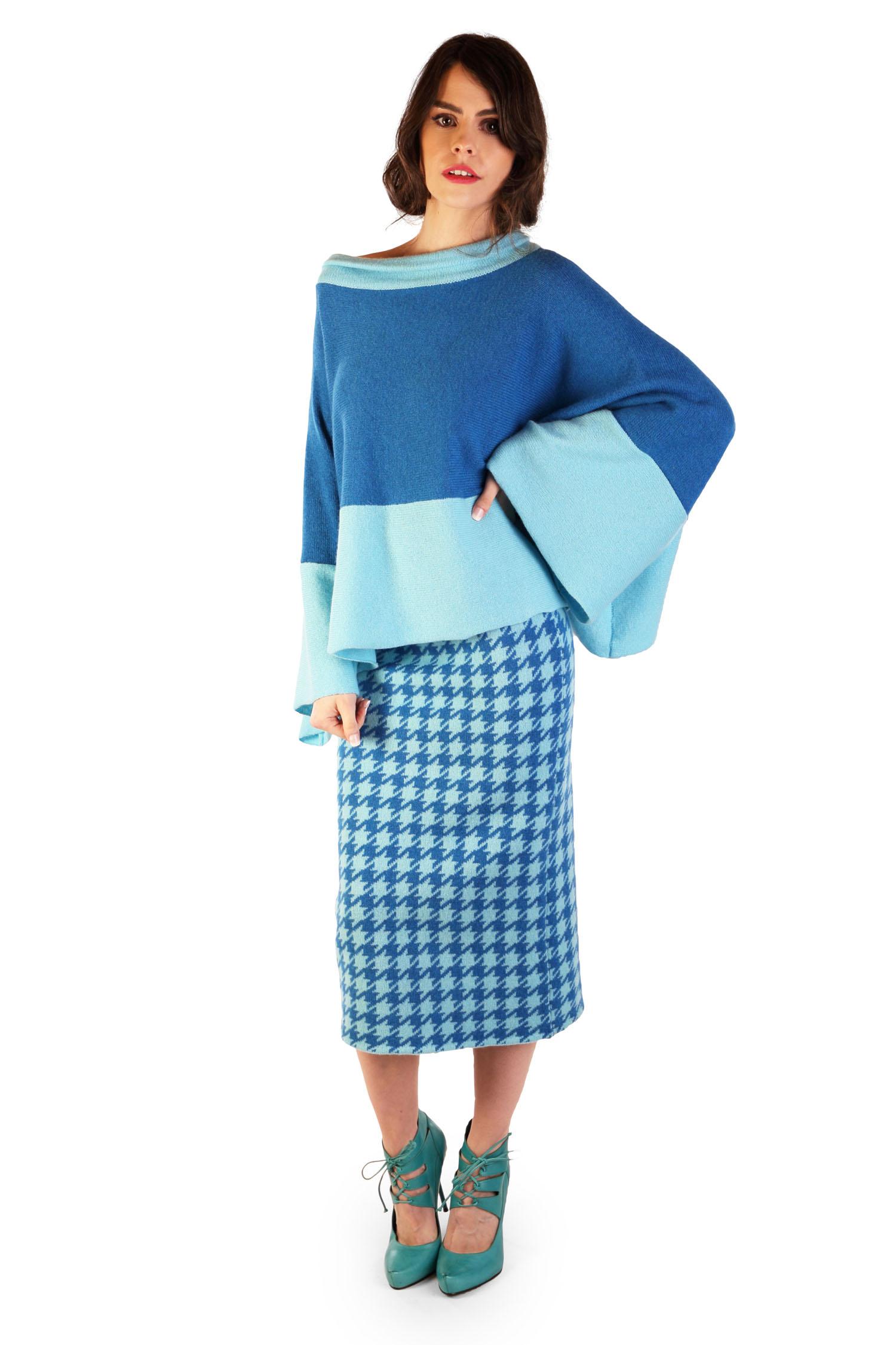 Dogtooth pencil skirt3