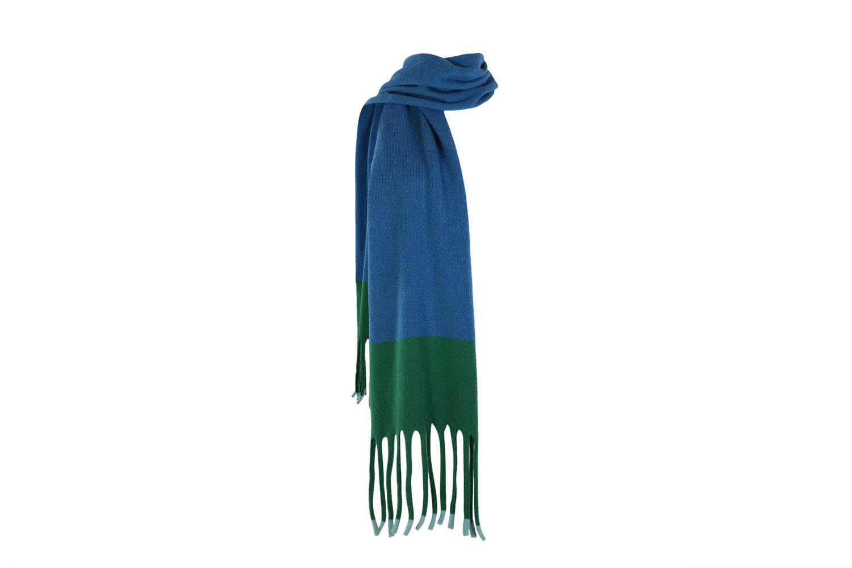 Fringed scarf Aqua2