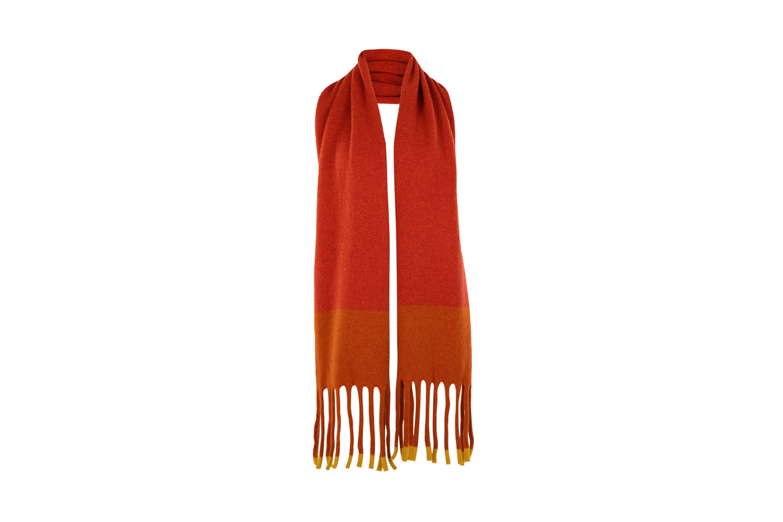 Fringed scarf Turmeric1