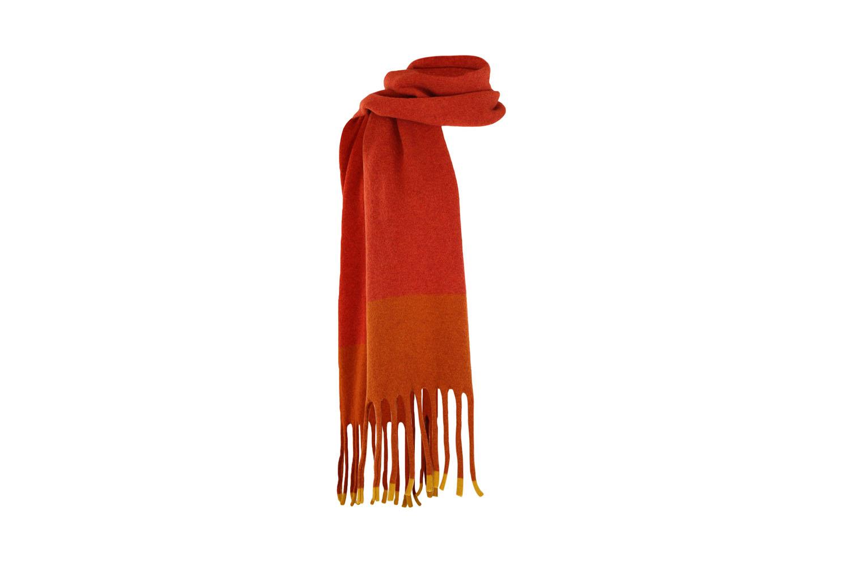 Fringed scarf Turmeric2