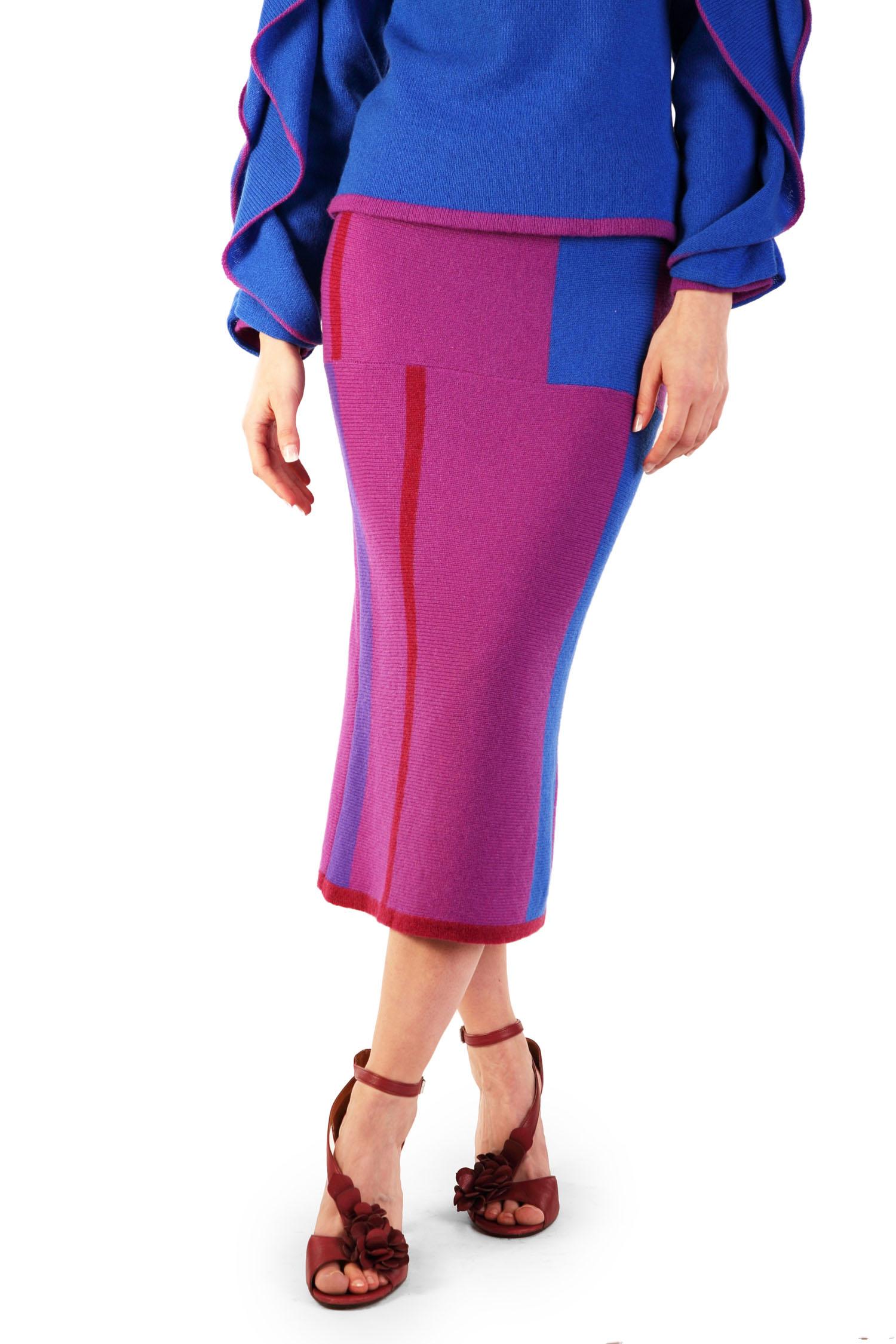 Mondrian pencil skirt