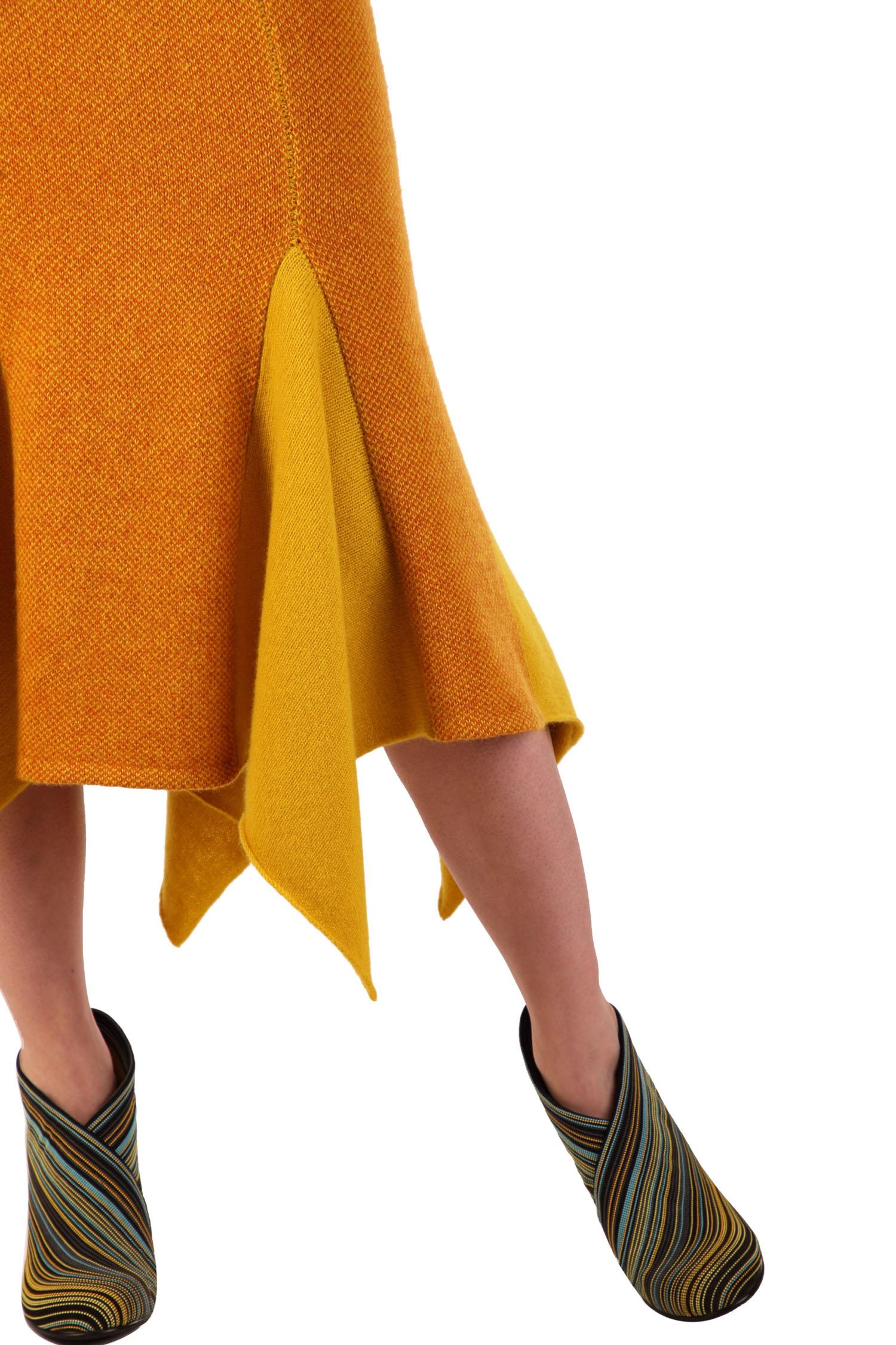 Ochre tweed skirt2