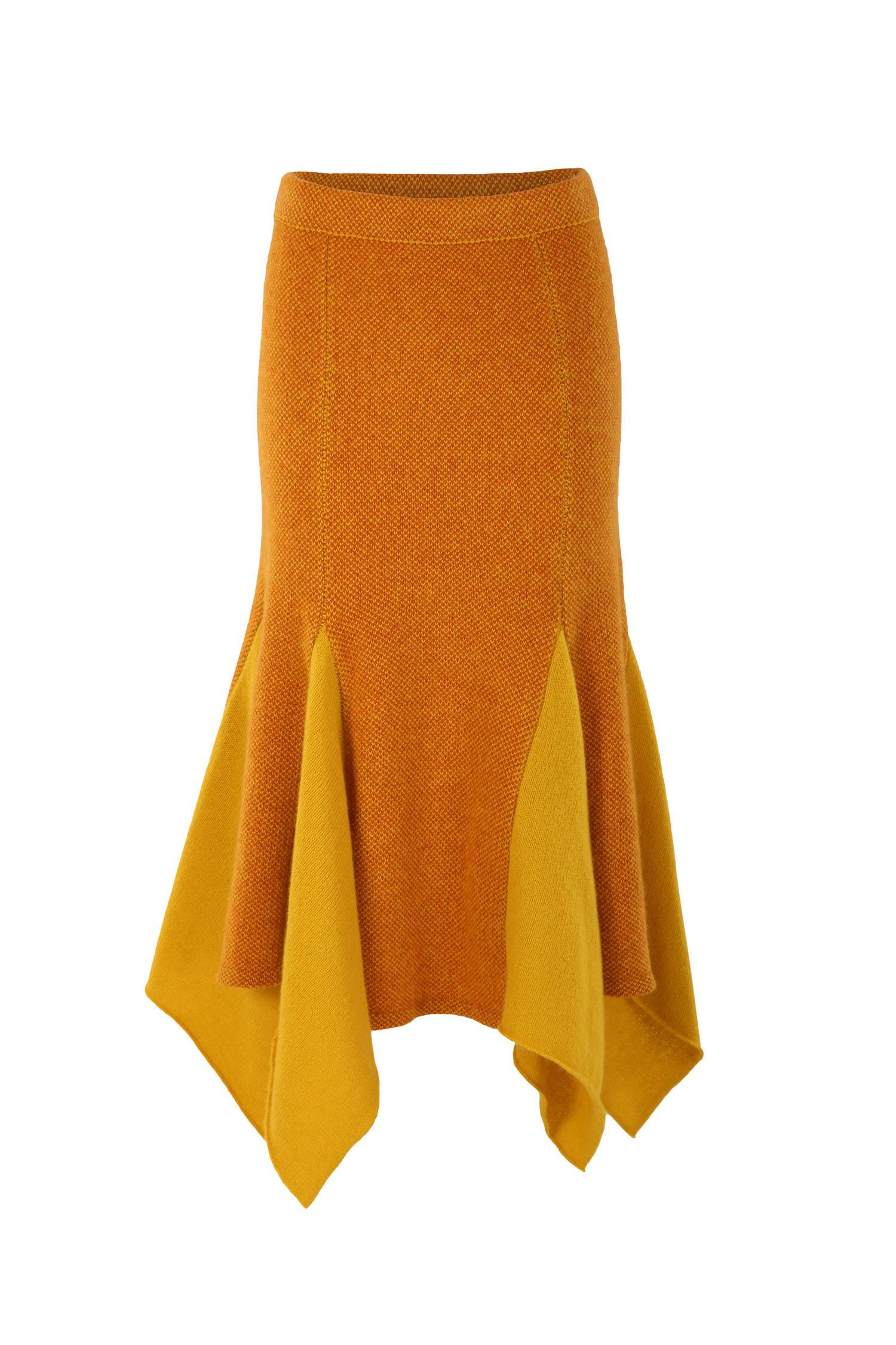 Ochre tweed skirt3