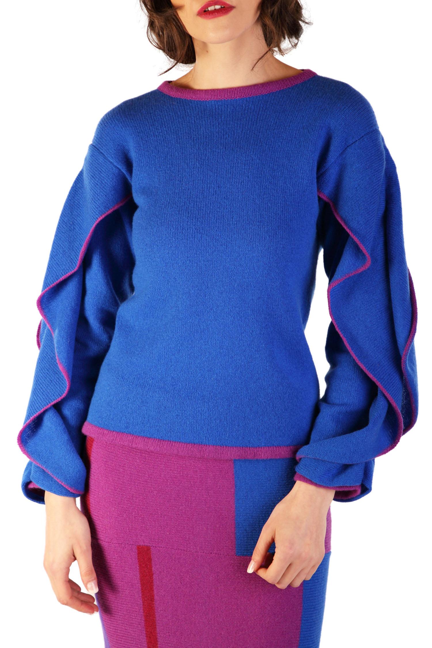 Ruffle sleeve jumper