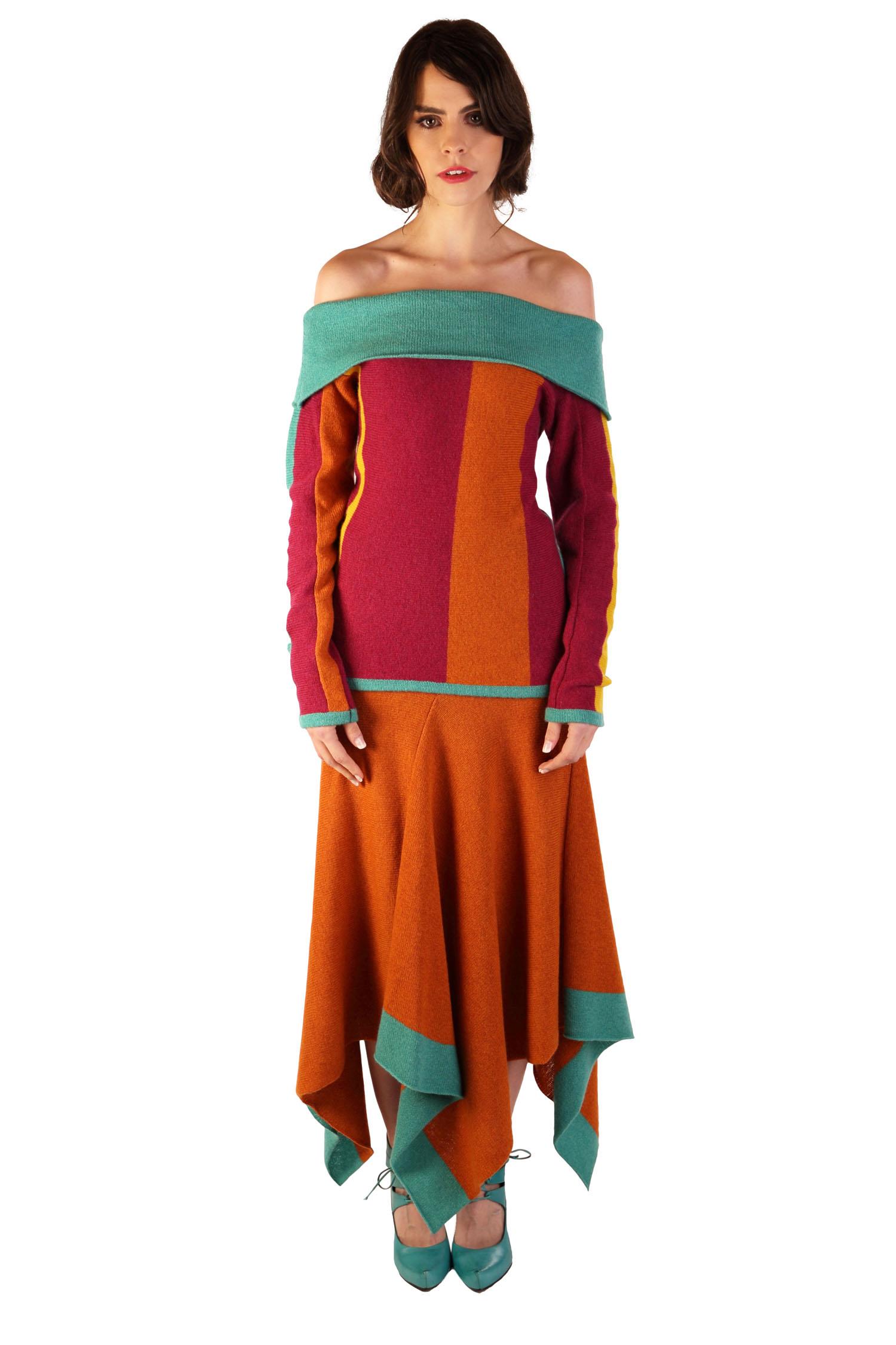 Stripe skirt1