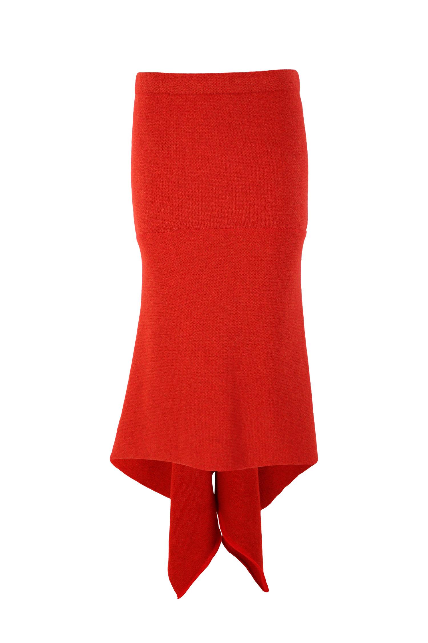 Tweed fishtail skirt3